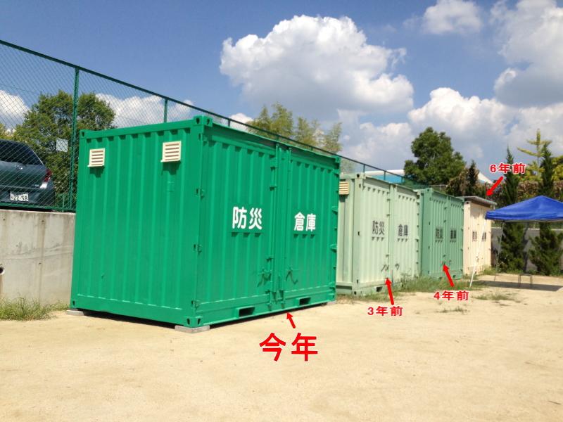 防災コンテナを1~2年に一度のペースで設置を行ったケース。