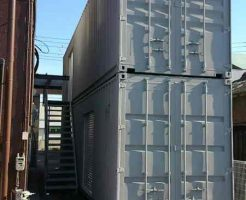 2段目に上がる際の階段の取付例