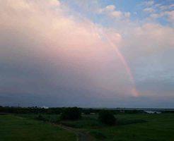 帰り道で久しぶりの虹