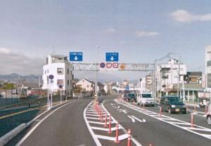京都国道9号線千代原口交差点手前