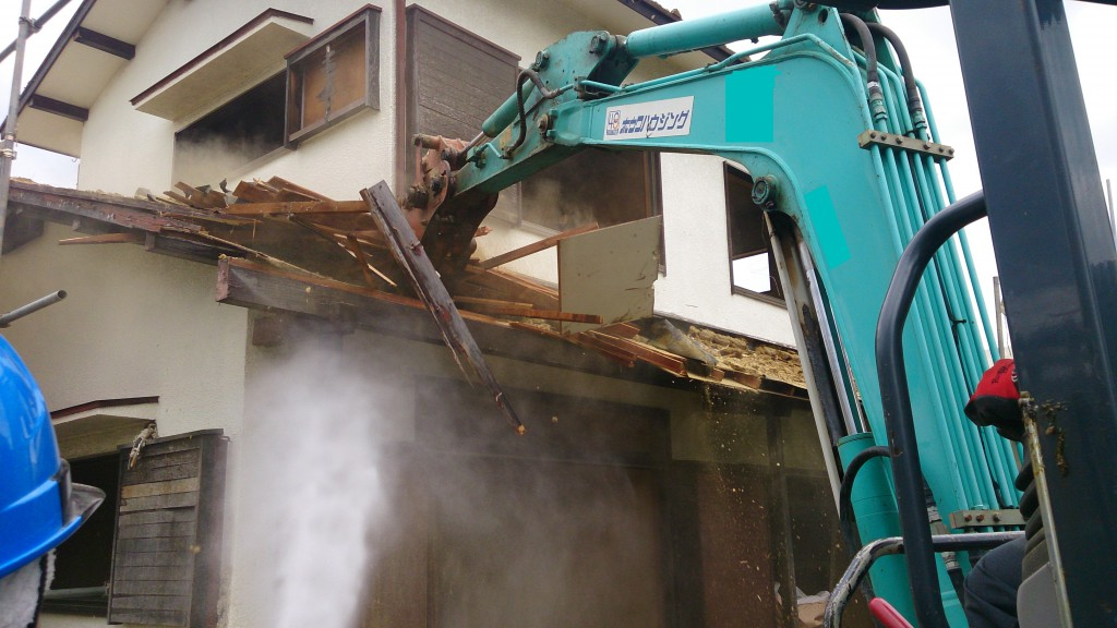 奈良市解体工事現場