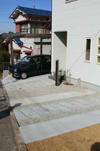 秀光ビルドさんでご新築、生駒市のO様邸外構事例