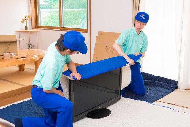 家電製品も1点1点丁寧に保護してからお運び致します。