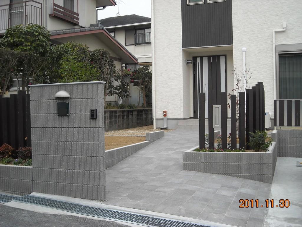 パナソニックテクノさんでご新築、奈良市Y様邸の外構事例