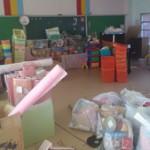 作業初日は平群幼稚園の備品移設
