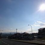 奈良市内の空~快晴ですね!