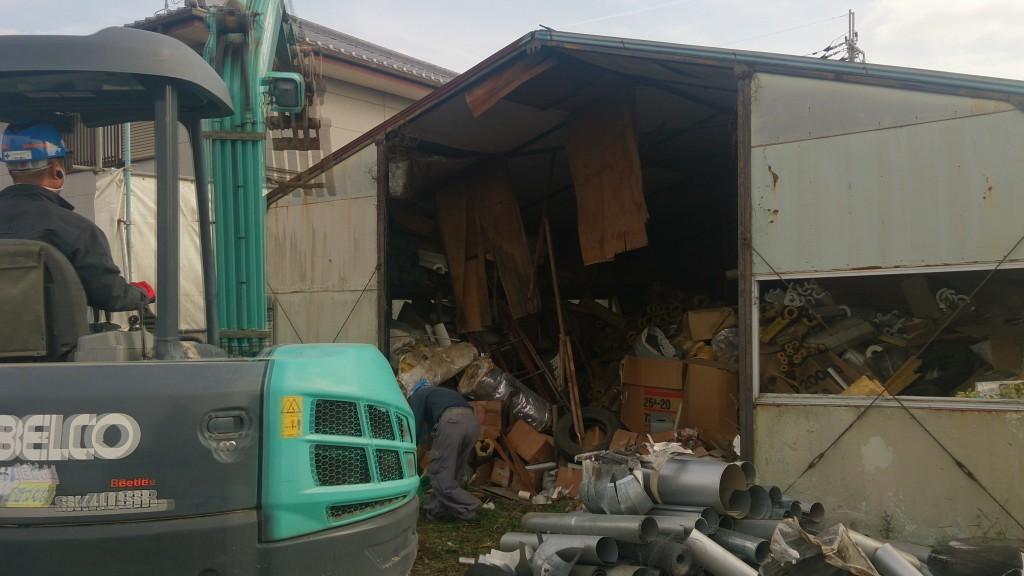 奈良市内倉庫解体工事(残存物の撤去)