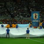 サッカー日本代表!試合開始直前!