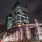 夜の大阪市内はキラキラ