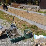 大和郡山市K様外構75%と農家さんの育苗プール完成