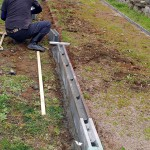 農家さんの育苗用プール製作   前半 外枠作成