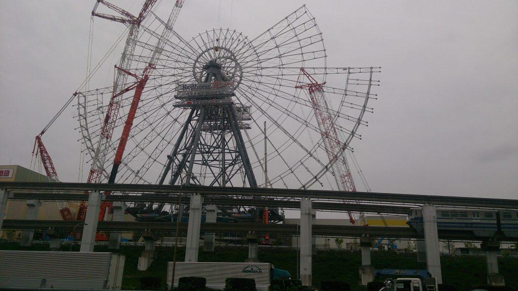 吹田市|日本一の観覧車(もうすぐ完成)