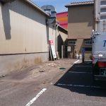 コンテナを積込後の風の吹込み等によるゴミ溜まり
