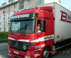 ヨーロッパのトラックです