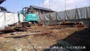 ほぼ軽自動車しか通れない場所のお引越しと解体 | その3 住居部建物の解体