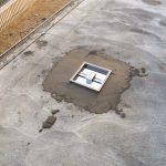 奈良でタイルデッキ | セメント流し込みとタイル貼り作業開始