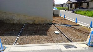 アイ工務店さんでご新築 | 京都府木津川市で外構エクステリア工事 その4 駐車場土間コンクリート打設工事