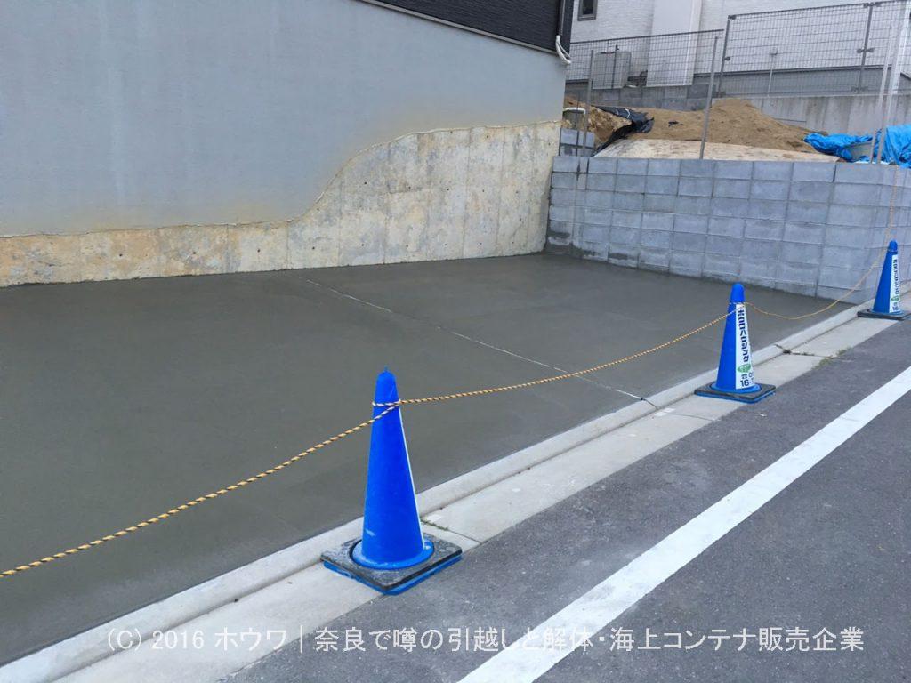 木津川コンクリート土間打ち仕上げ後