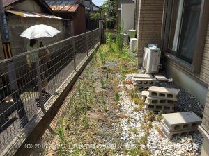 雑草のない快適な家まわり | 奈良市で犬走り製作
