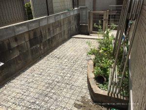 奈良市で犬走り製作 | 配筋メッシュの施工