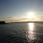松山市発→呉市行きフェリー内からの夕日