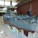 大和ミュージアム内の戦艦大和模型後部