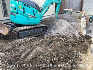 掘削作業と残土排出