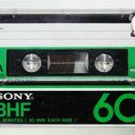 懐かしいソニーさんのBHFカセットテープ