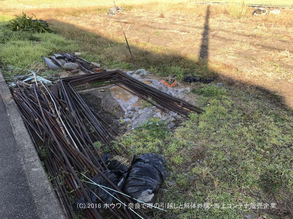 賃貸の田畑を原状回復して地主さんに返却   大和郡山市