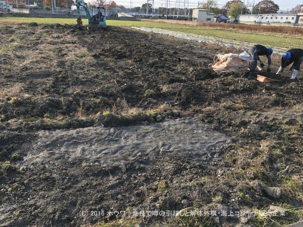 賃貸の田畑を原状回復して地主さんに返却 | 大和郡山市