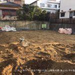 地盤を下げる、残土の搬出