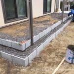 奈良市でコンクリートデッキを製作 | セキスイハイムさんでお建て替えのお客様
