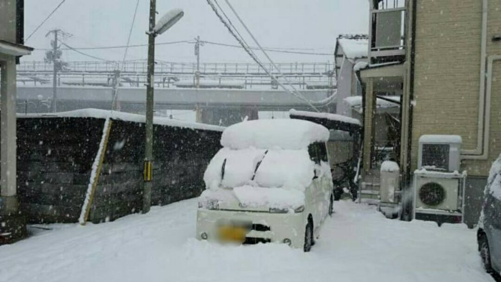 積雪が凄いです|京都府舞鶴市