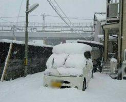 京都府舞鶴市の積雪状況です。