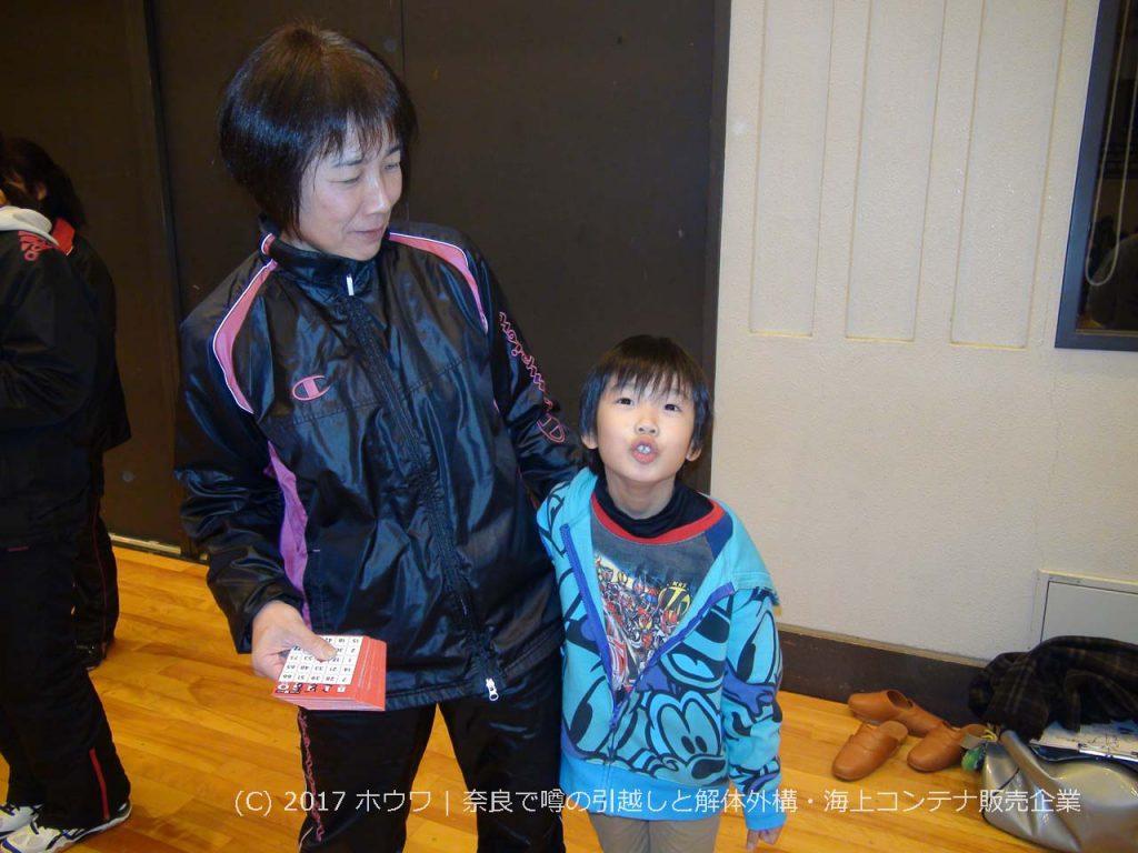 菅田千幸さんとお孫さん