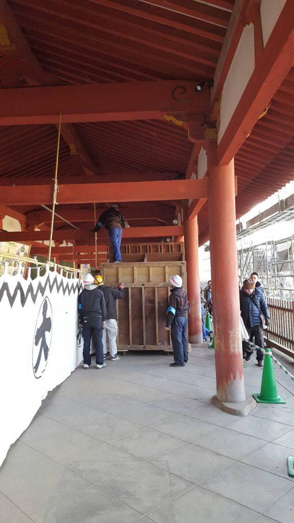 重要文化財 東大寺廻廊ほか3棟屋根葺替工事にともなう移転業務