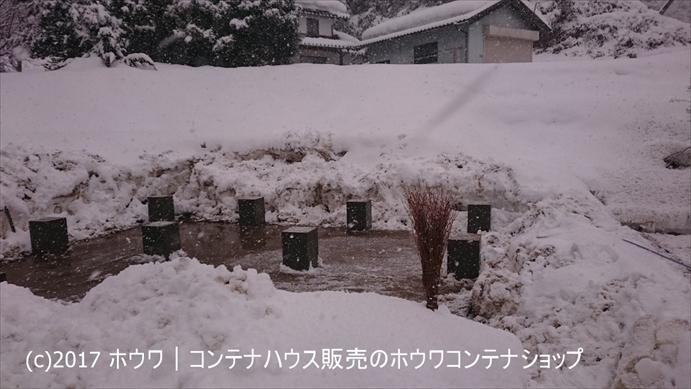 基礎部分の除雪を行ないました。
