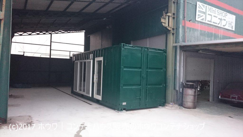 MINIショップ ユニオン様設置コンテナハウス