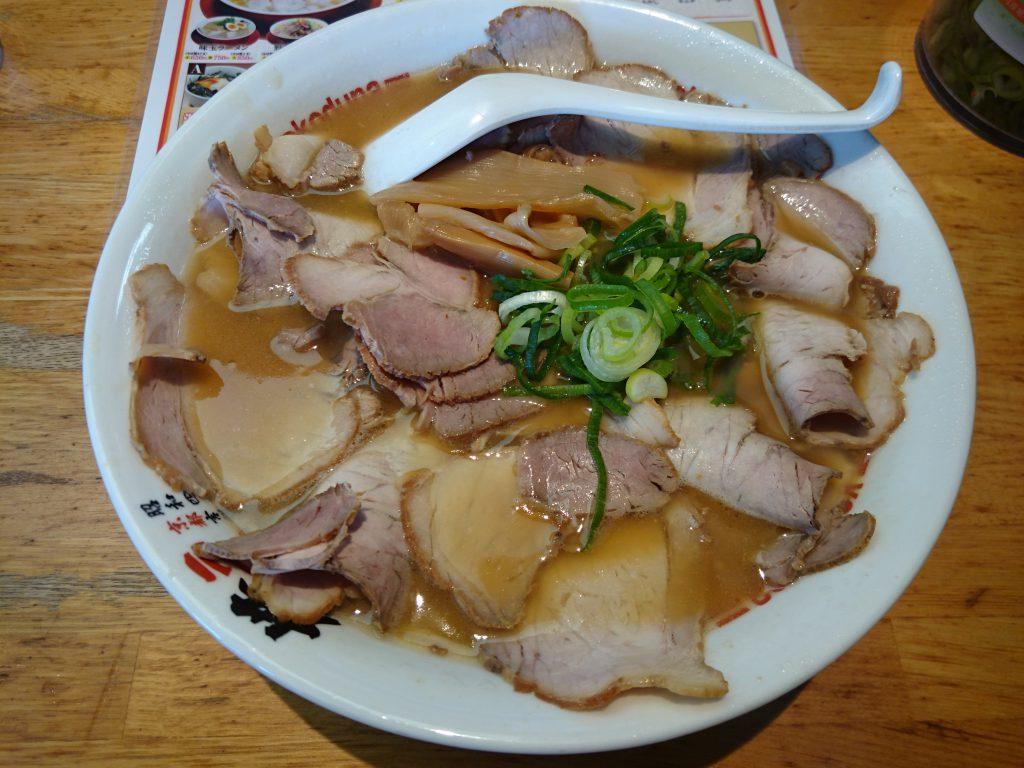 京都1号線沿いに有るラーメン横綱久御山店のチャーシュー麺大