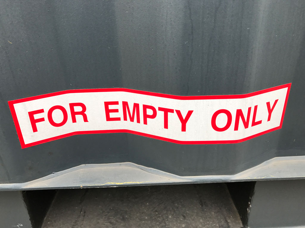 FOR EMPTY ONLY