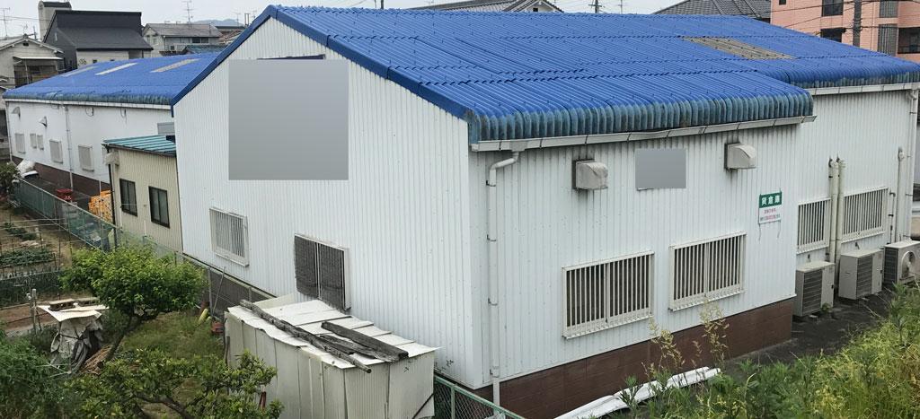 屋根の一次塗装
