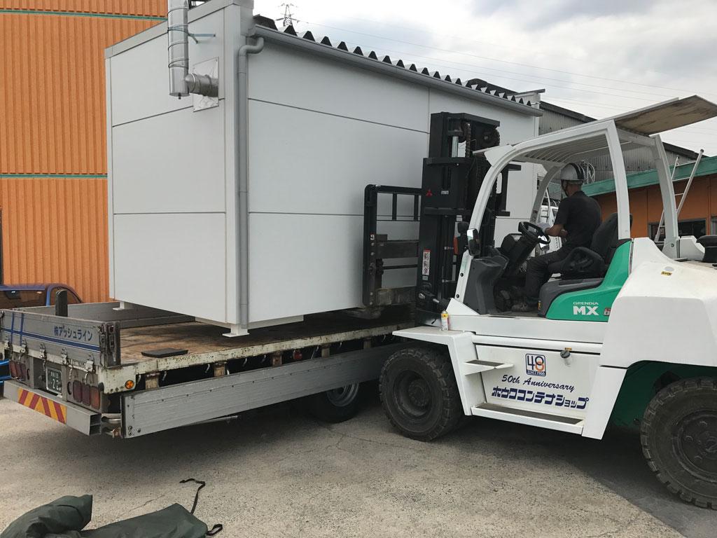 危険物倉庫の出荷積み込み | 福井県で設置