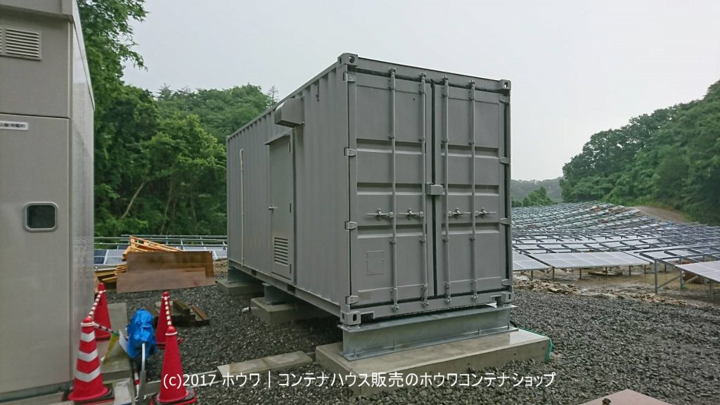 発電施設向け蓄電池保管コンテナ エネマックスの設置例 | 福島県白河市