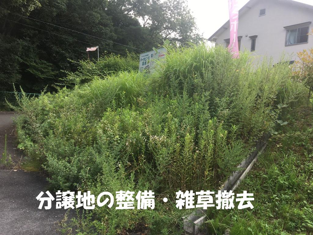 分譲地の草刈り、雑草対策 | 奈良・大阪・京都での草刈りはホウワへ