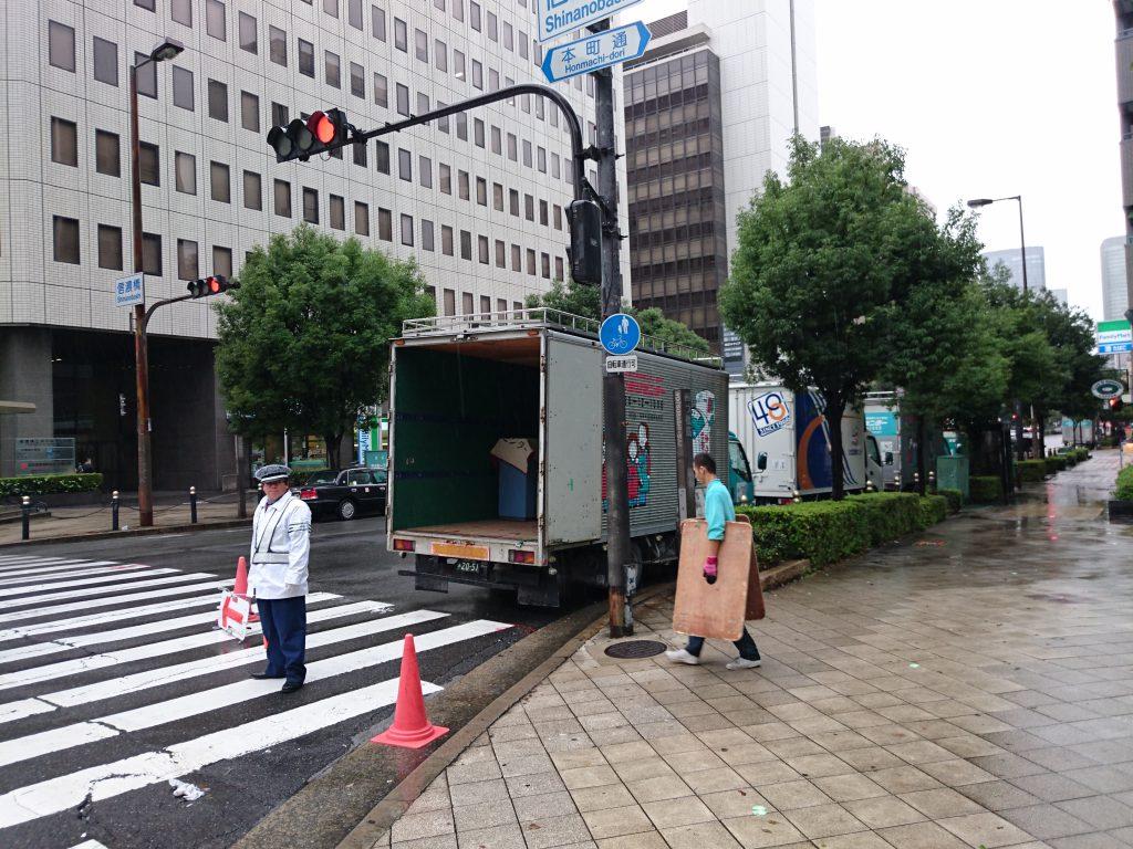 信濃橋交差点にてお引越7