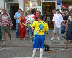 ブラジルサポーターもサッカー上手