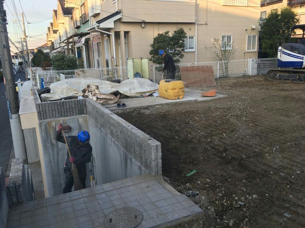 整地作業と工事の完了