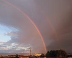 2列に並んだ虹1