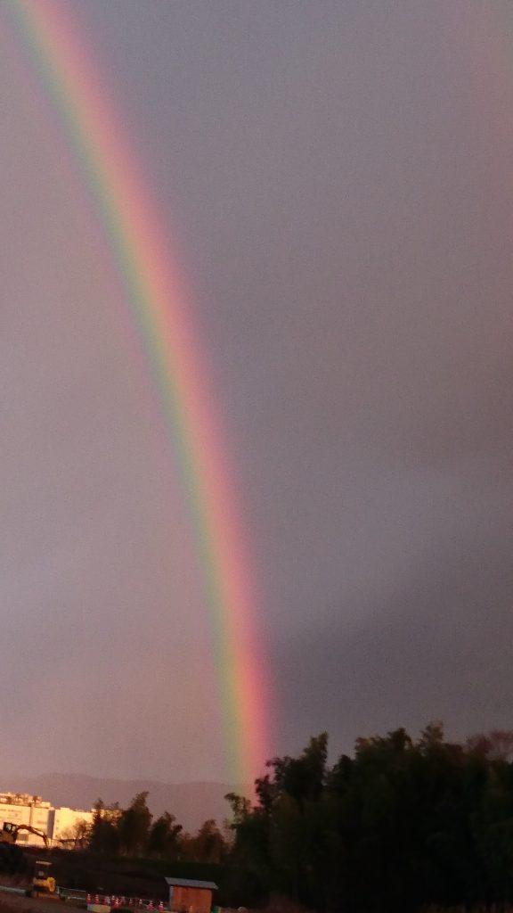 2列に並んだ虹2