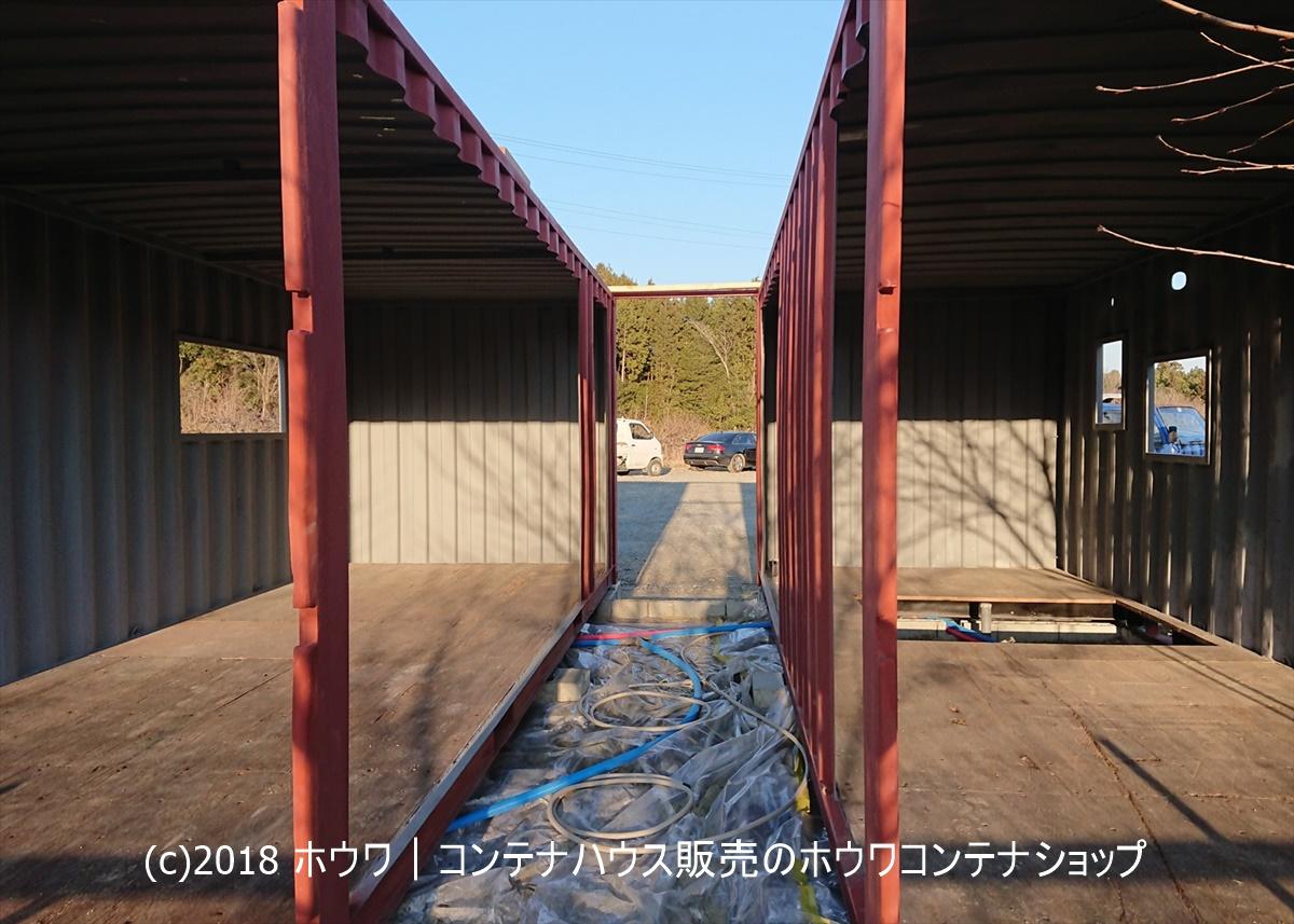 20フィート2台住宅用コンテナの納品例